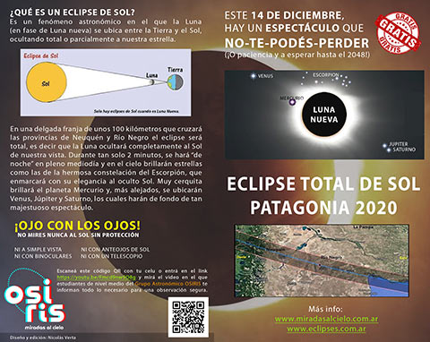 Folleto Eclipse Solar Argentina 2020